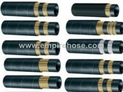 HP wire-braid reinforced rubber hose